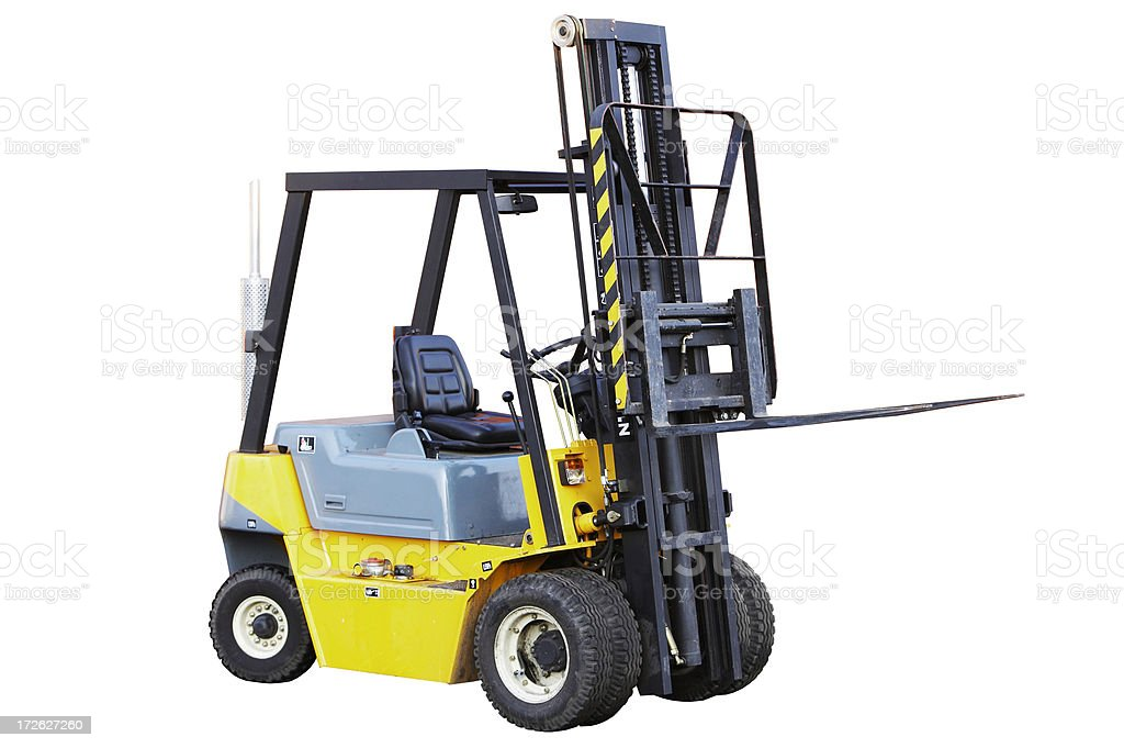 Forklift (isolated) stock photo