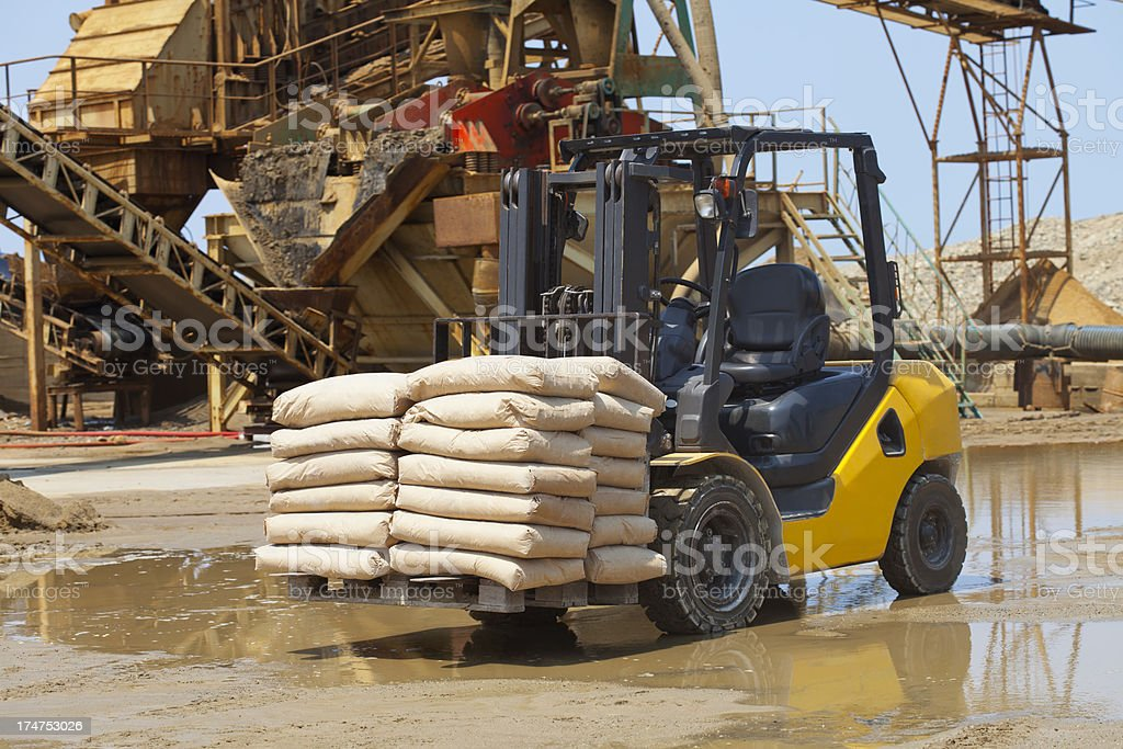 forklift stock photo