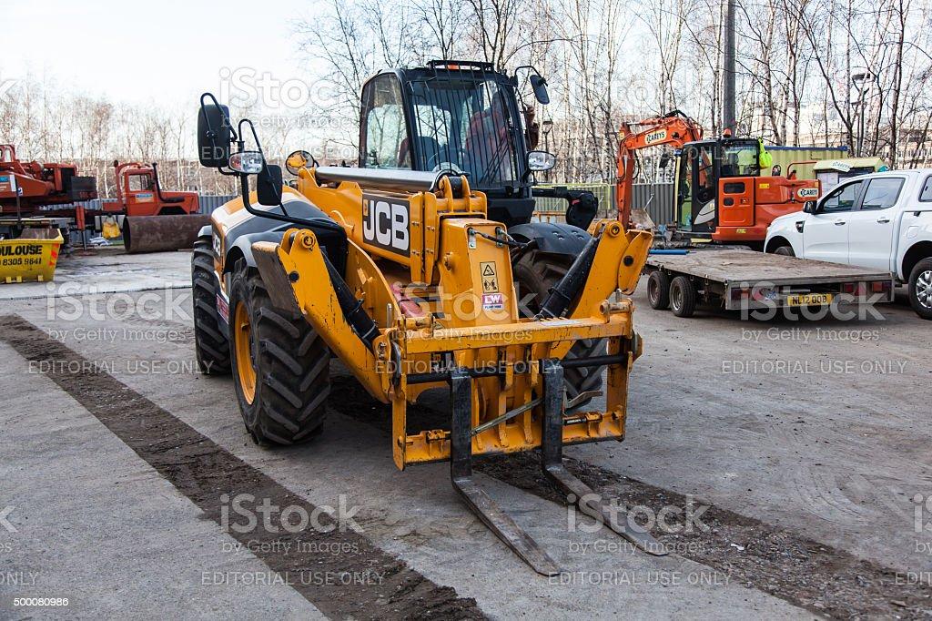 JCB Forklift stock photo