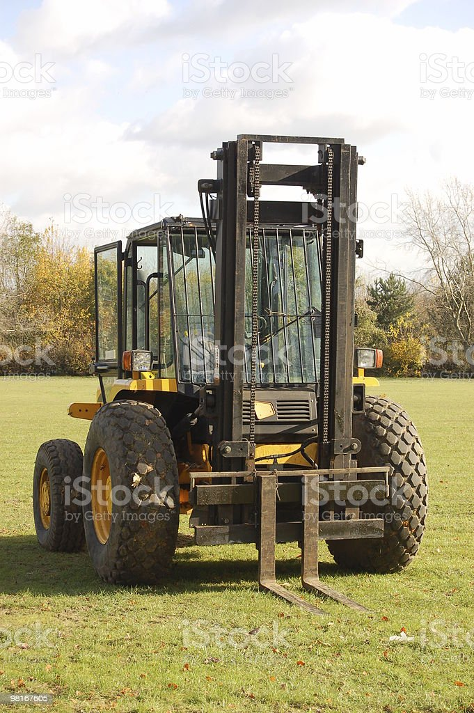 forklift tractor royalty-free stock photo