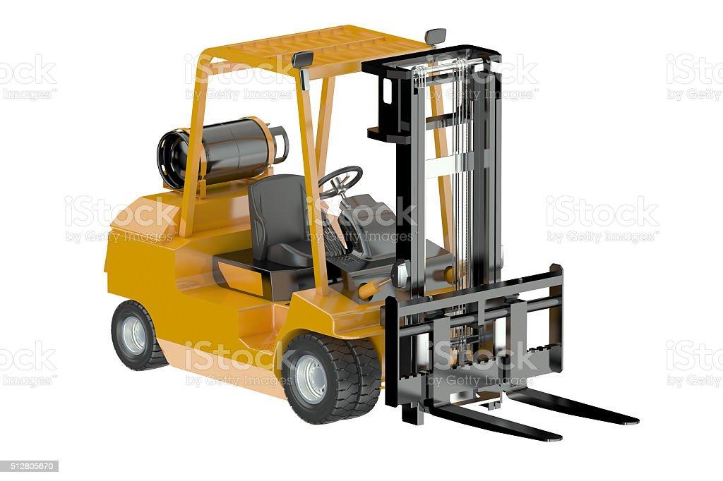 Forklift truck stock photo