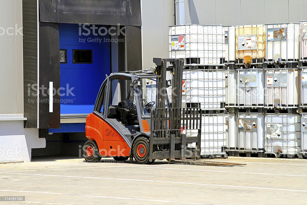 Forklift vehicle royalty-free stock photo