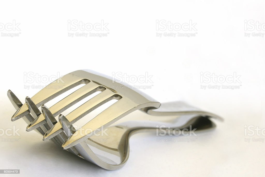 Forks royalty-free stock photo