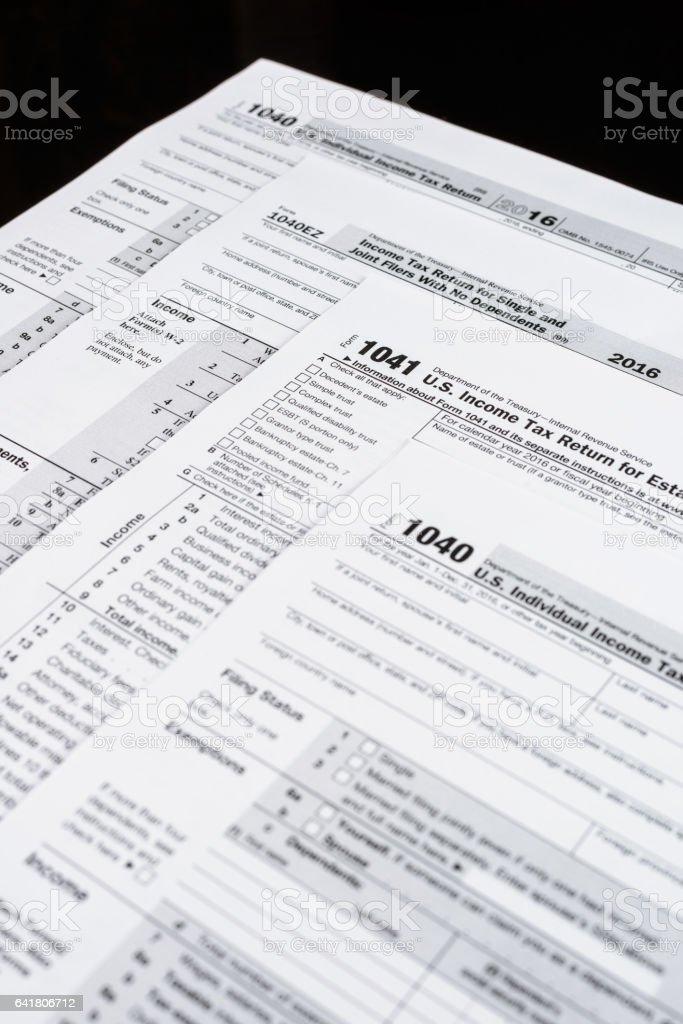 Form 1040 Individual Income Tax Return Form Form 1041 Us Income Tax
