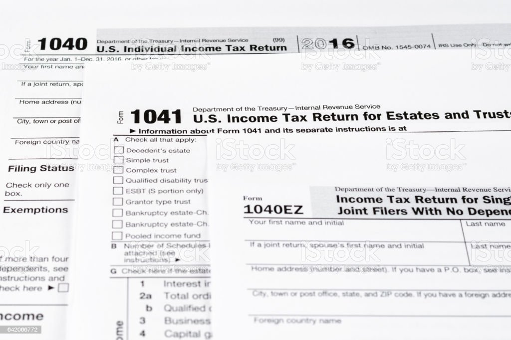 Form 1040 Individual Income Tax Return Form Form 1041 Us Income Tax