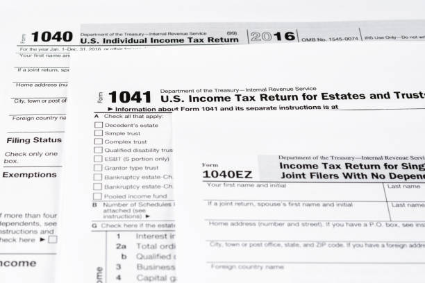 Royalty Free 1040ez 1040 Tax Form Ez Tax Form Pictures Images And