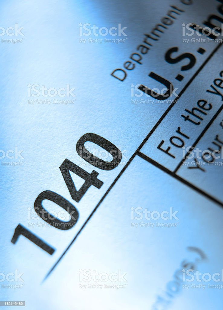 IRS Form 1040 royalty-free stock photo