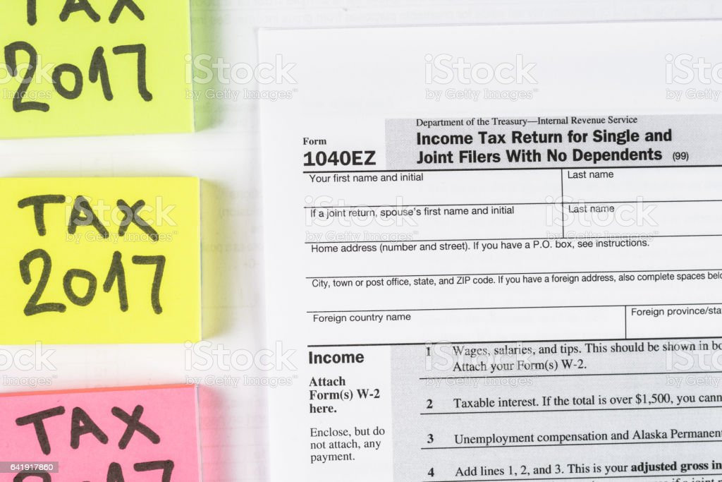 Form 1040ez Income Tax Return For Single And Joint Filers With No