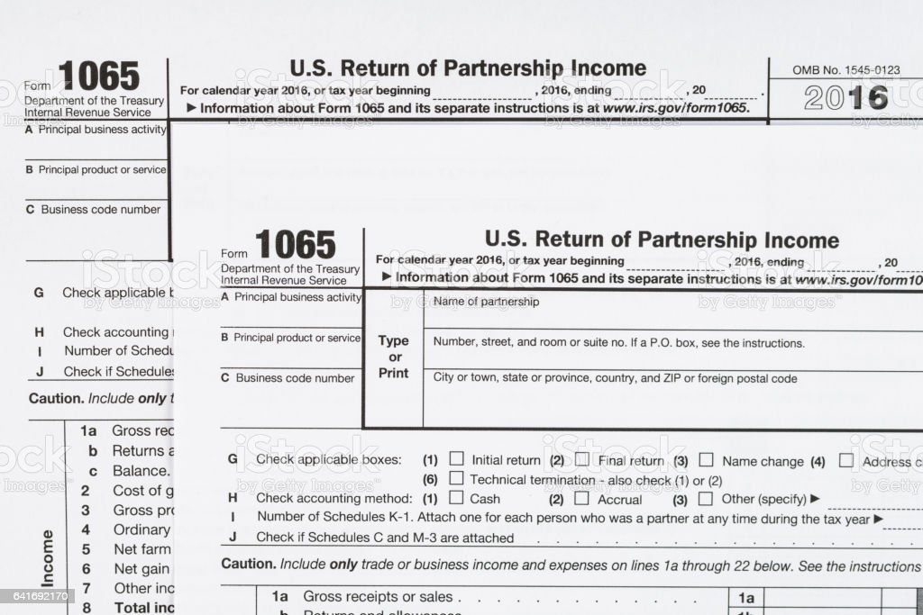 form 1065 u.s. return of partnership income  Form 10 Us Return Of Partnership Income United States Tax ...