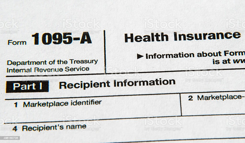 IRS Form 1095 Relating to Health Insurance stock photo