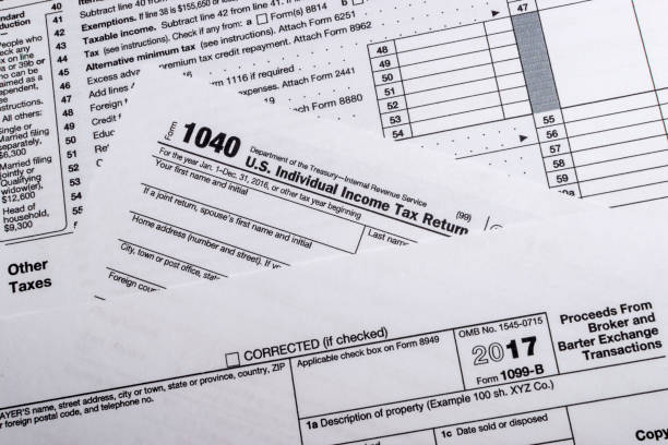 Irs Form 1099b Stock Photo More Pictures Of Currency Istock