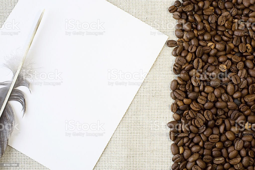 form and coffee beans royalty-free stock photo