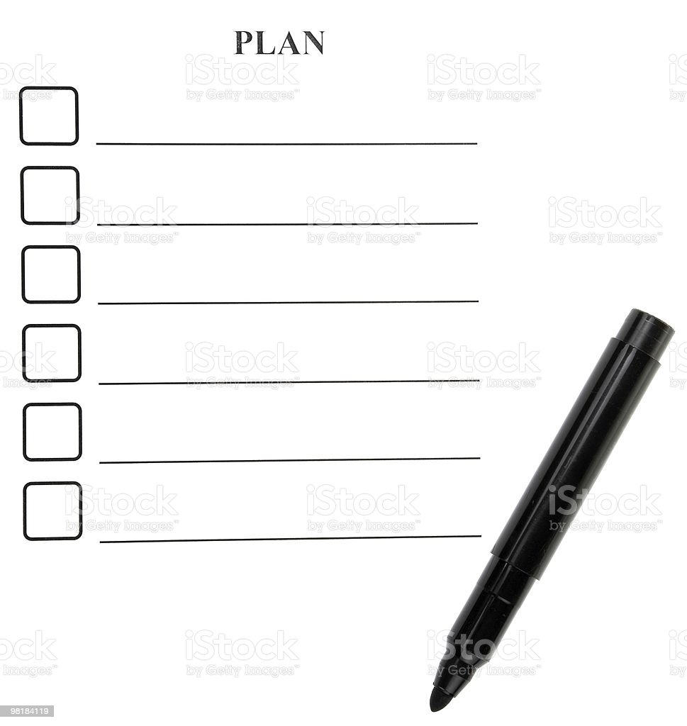 form for planning royalty-free stock photo