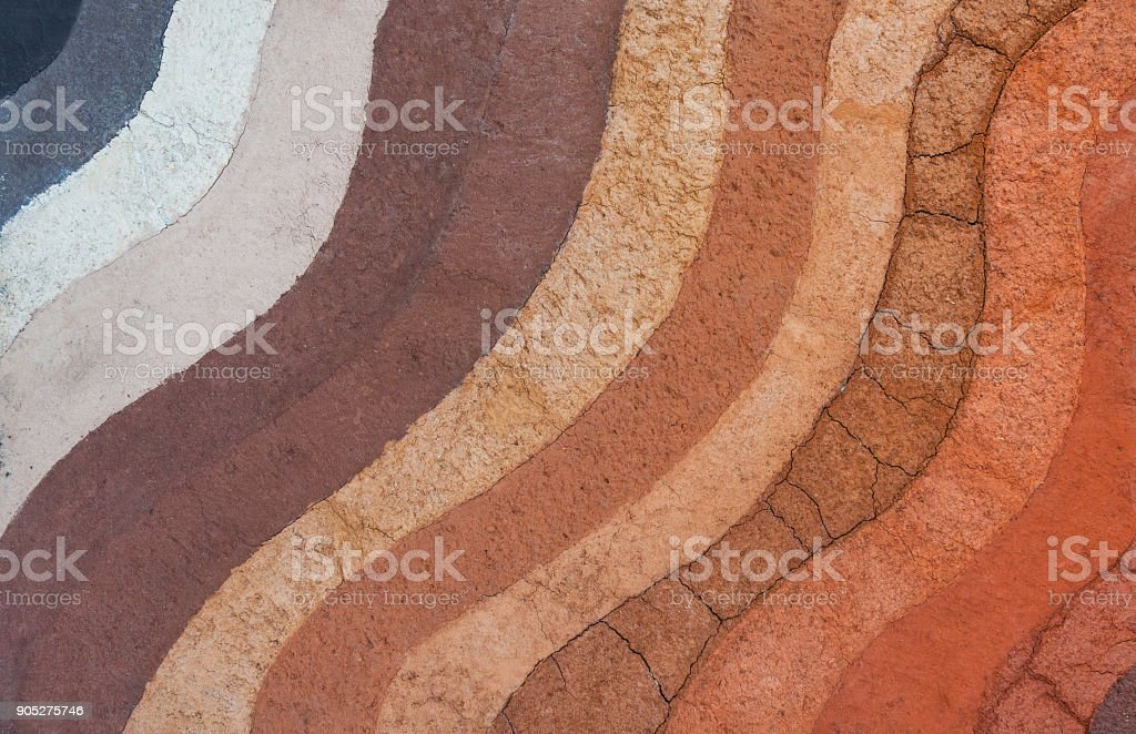 Form of soil layers,its colour and textures Form of soil layers,its colour and textures,texture layers of earth Abstract Stock Photo