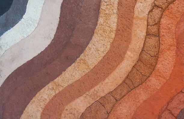 forma warstw gleby, jej kolor i tekstury - geologia zdjęcia i obrazy z banku zdjęć