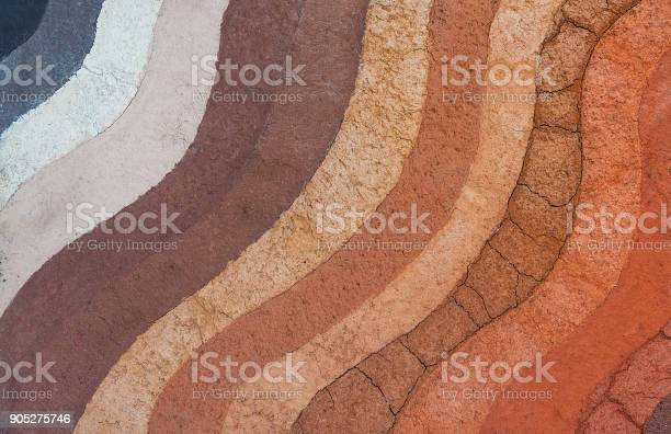 Form Of Soil Layersits Colour And Textures Stock Photo - Download Image Now