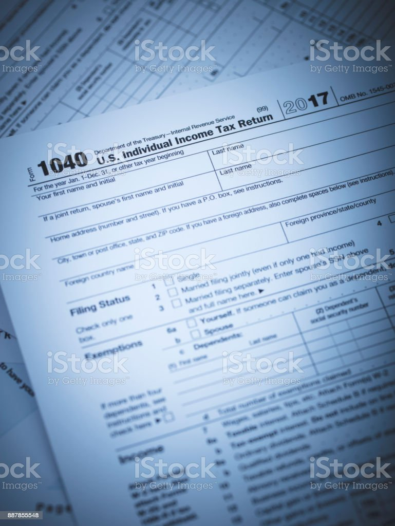 Irs 1040 Form Stock Photo & More Pictures of 1040 Tax Form