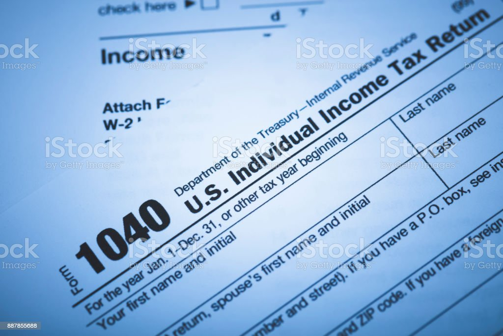 IRS 1040 Form stock photo