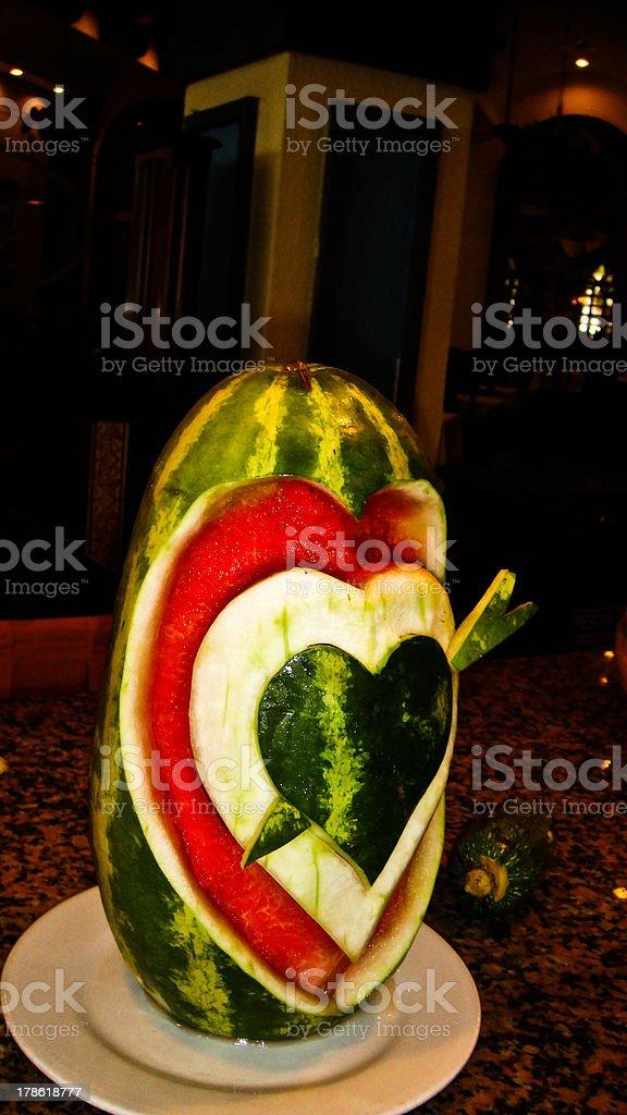 form watermelon royalty-free stock photo