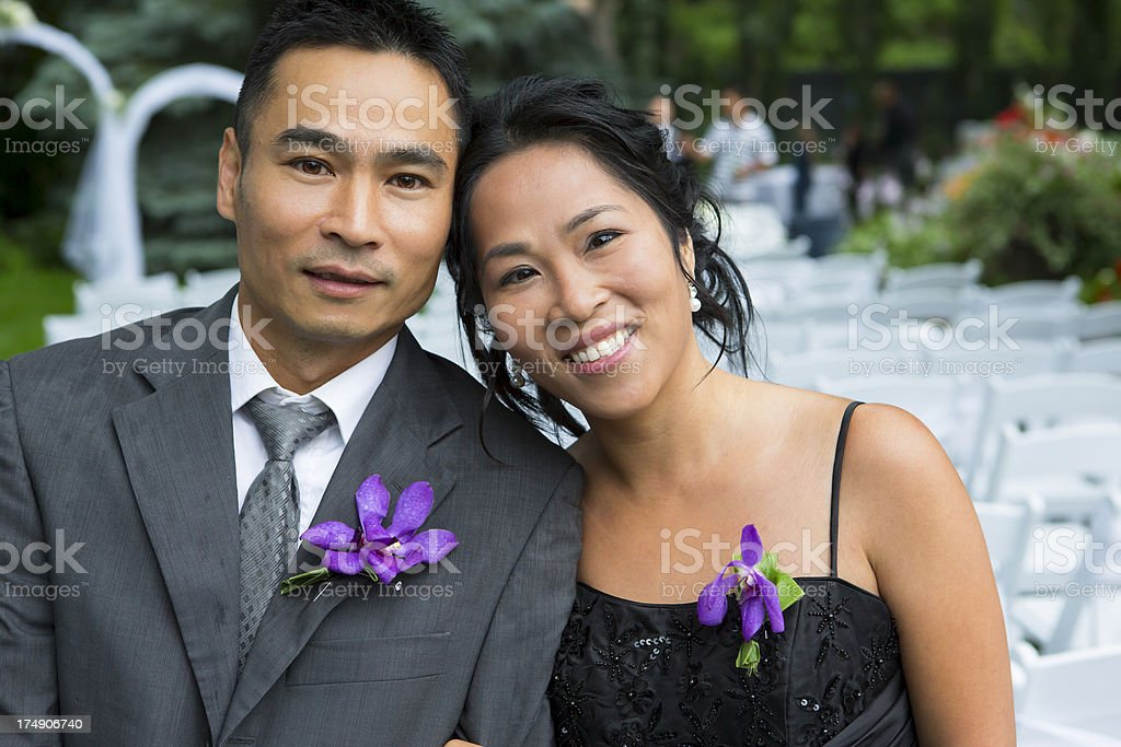 Formal asain couple portrait royalty-free stock photo