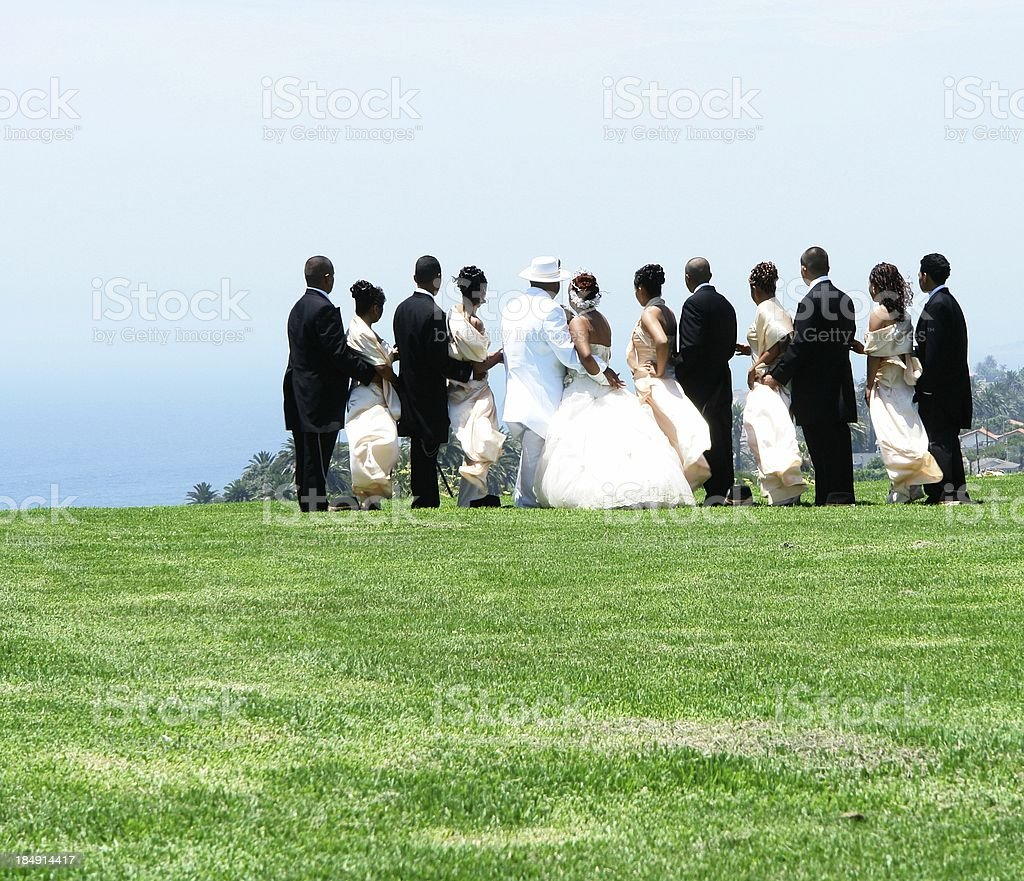 Formal Attire Party Overlook royalty-free stock photo