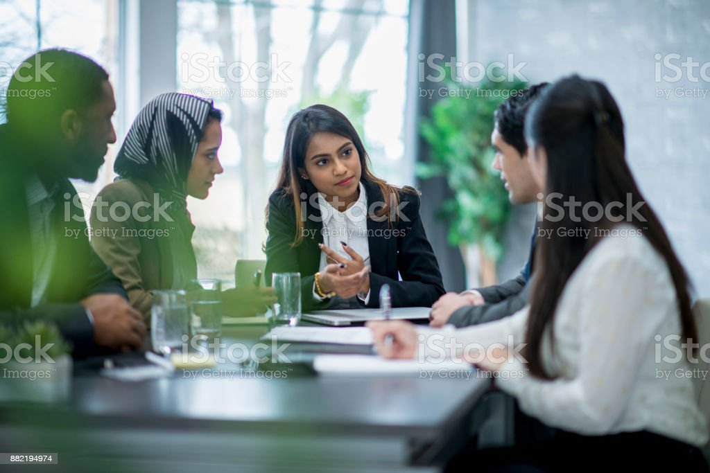 Formal Business Meeting stock photo