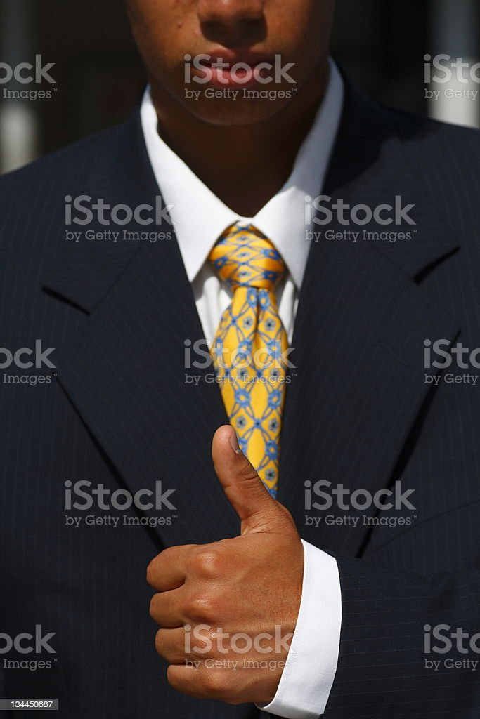 Formal  Business Person with sign of approval. royalty-free stock photo