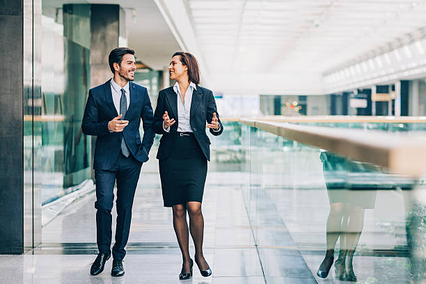 formal business style - woman suit stock photos and pictures