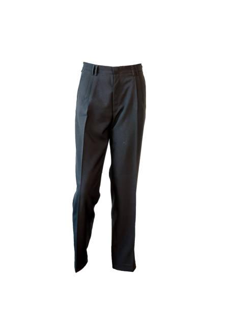 formal dark blue ironing pants stock photo
