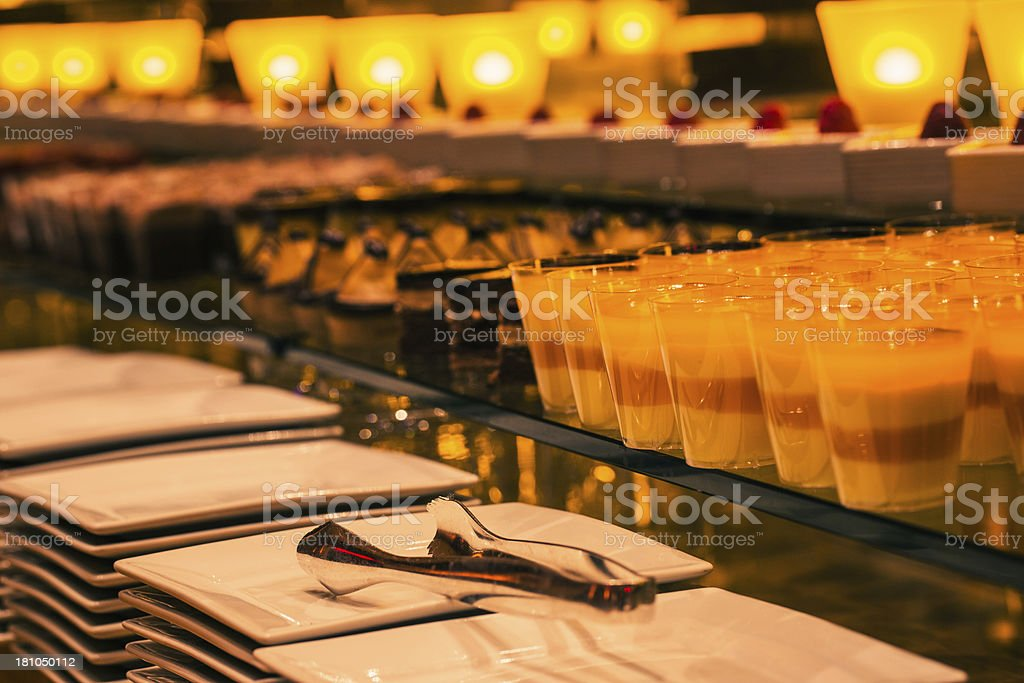 Formal dessert buffet royalty-free stock photo