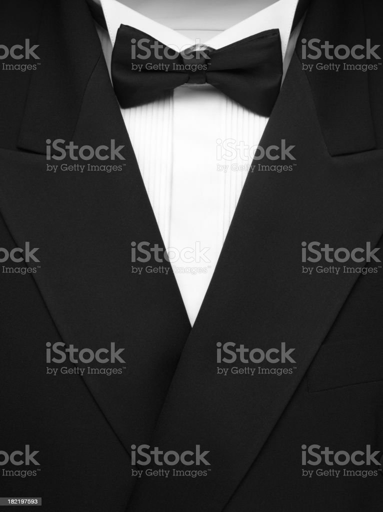Formal Dinner Jacket and Bow Tie stock photo