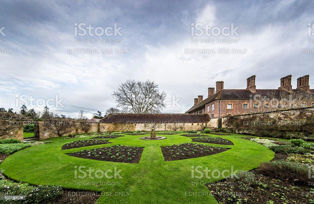 Formal Garden at Winter stock photo
