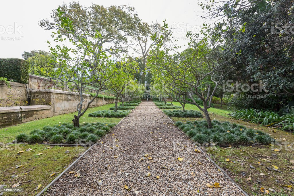 formal garden orchard royalty-free stock photo
