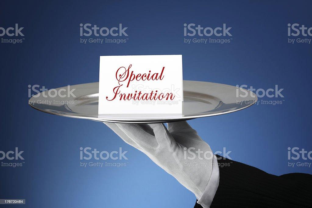 Formal invitation stock photo