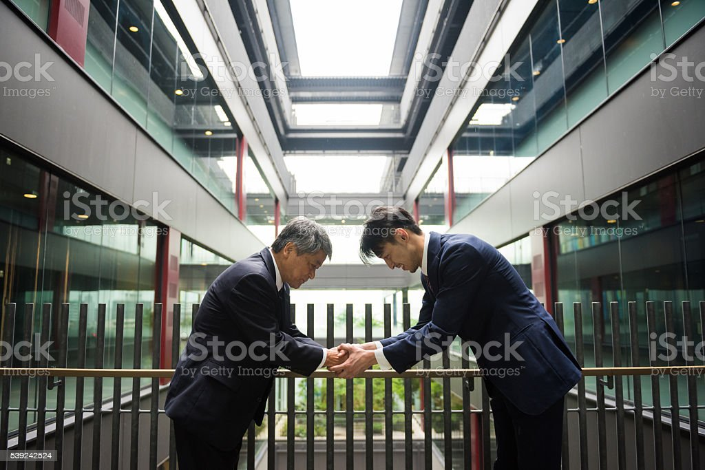 Formal Japanese business royalty-free stock photo