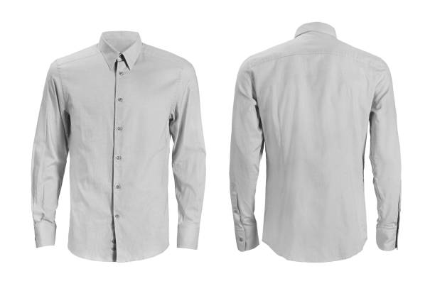 Formal shirt with button down collar isolated on white stock photo