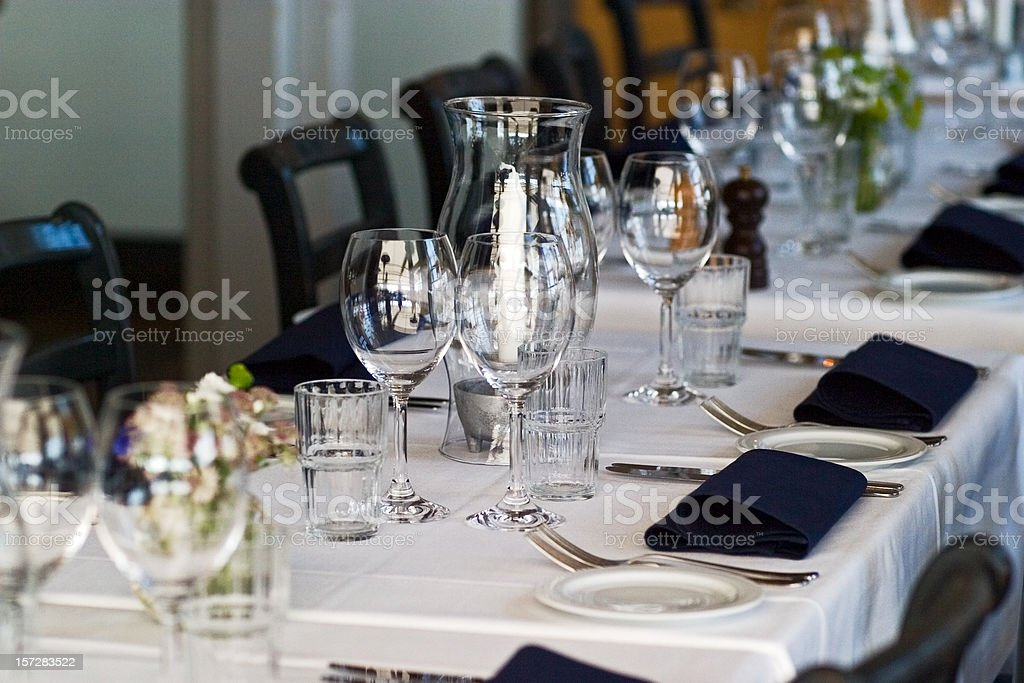 Formal table set for lunch royalty-free stock photo