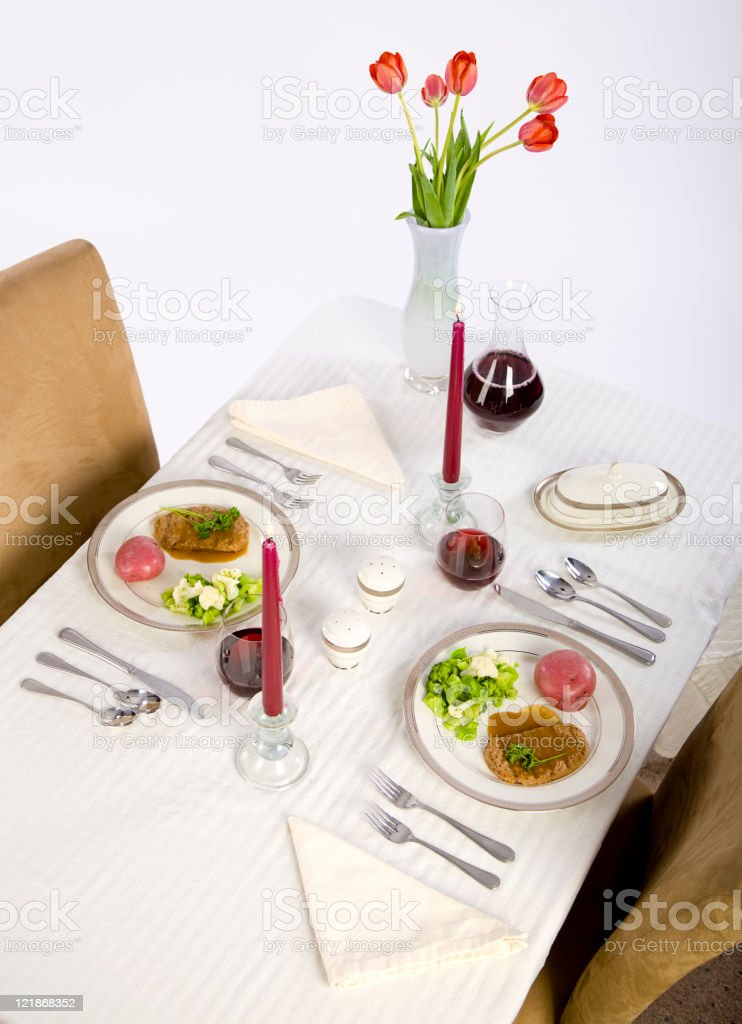 Formal Table Setting royalty-free stock photo