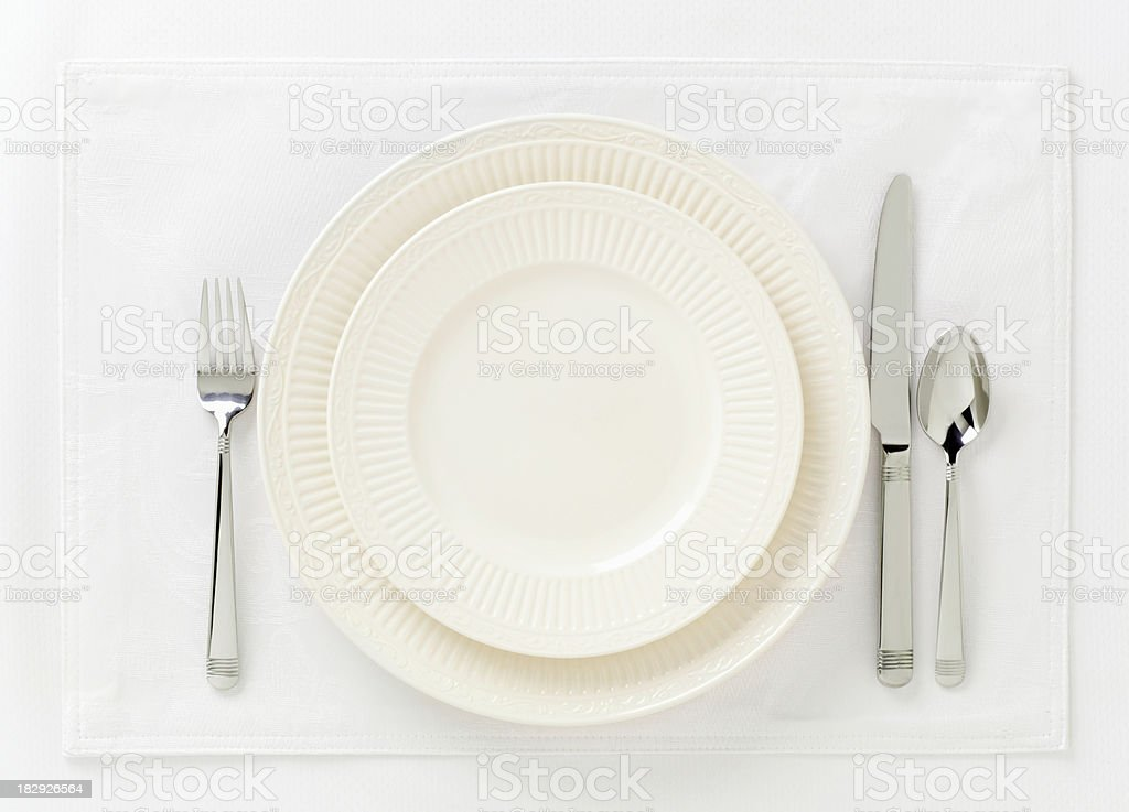 Formal Table setting4 royalty-free stock photo