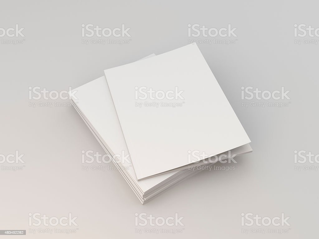 A4 format catalogs stock photo