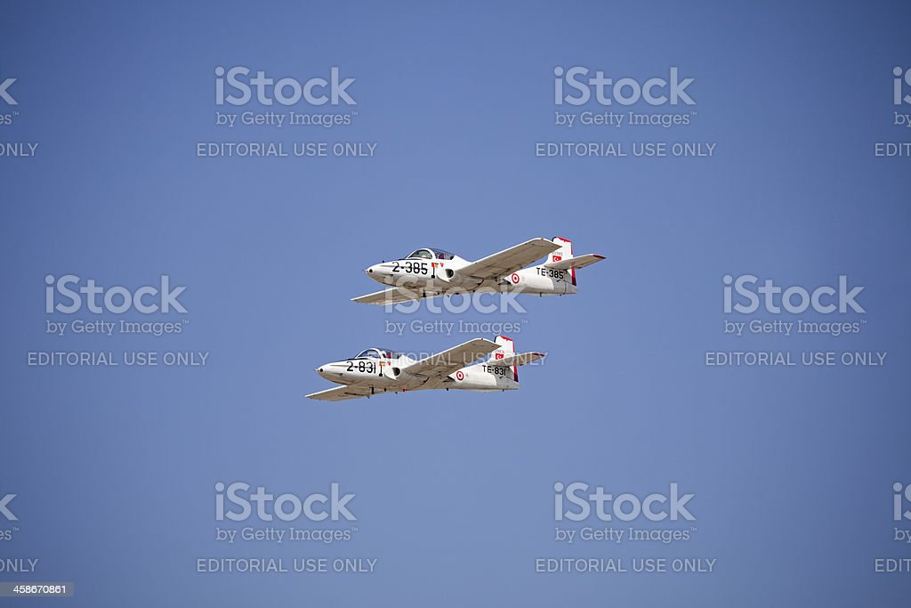 Formation flight of the Turkish Army Force stock photo