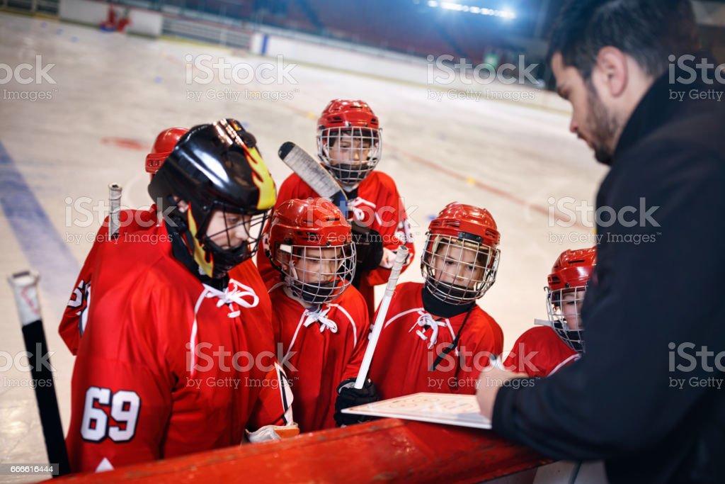 Bildung Spielplan Taktik im Eishockey – Foto