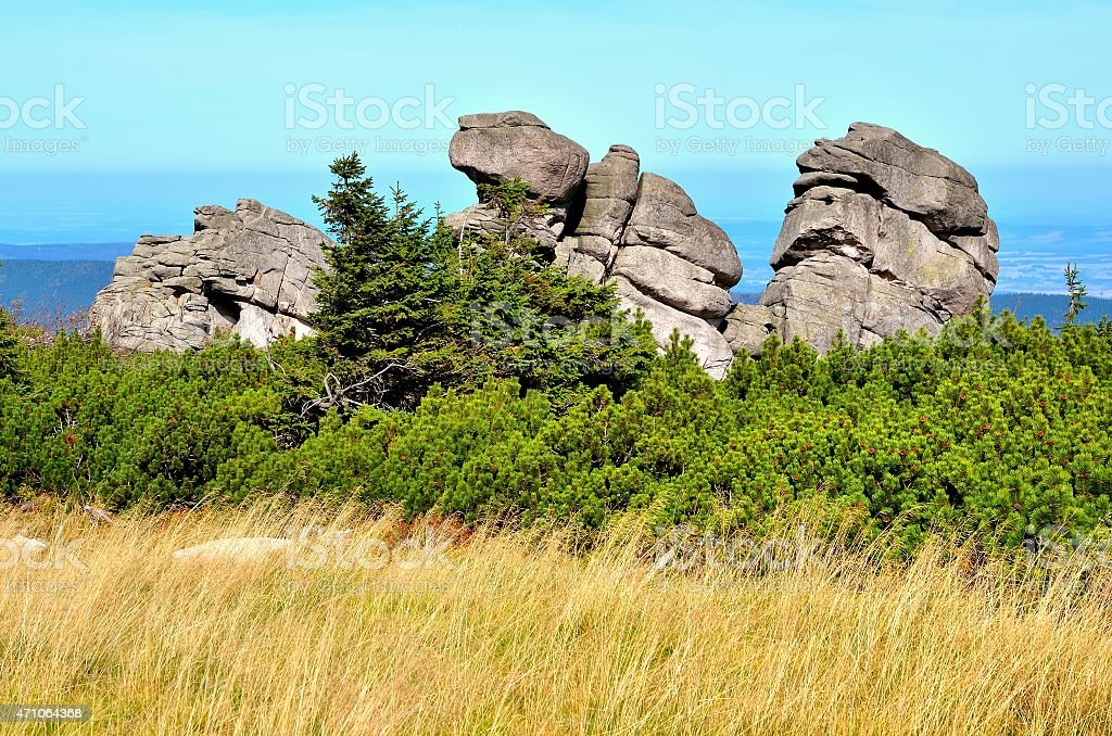 Formation of rocks. stock photo