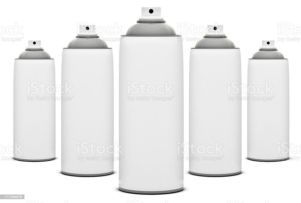 Formation of Spray Cans royalty-free stock photo