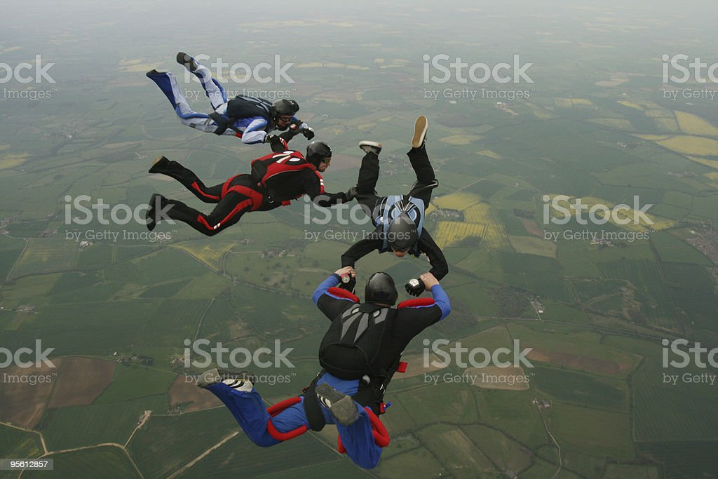 Formation Skydiving royalty-free stock photo
