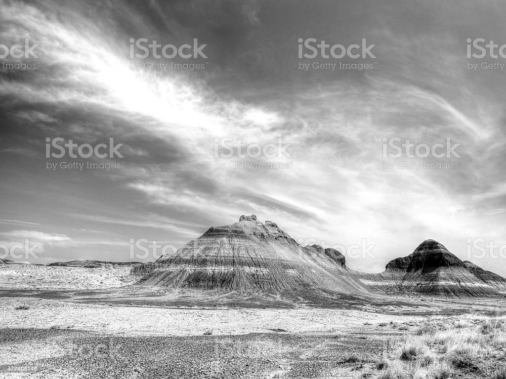 Formations in Petrified Forest National Park stock photo