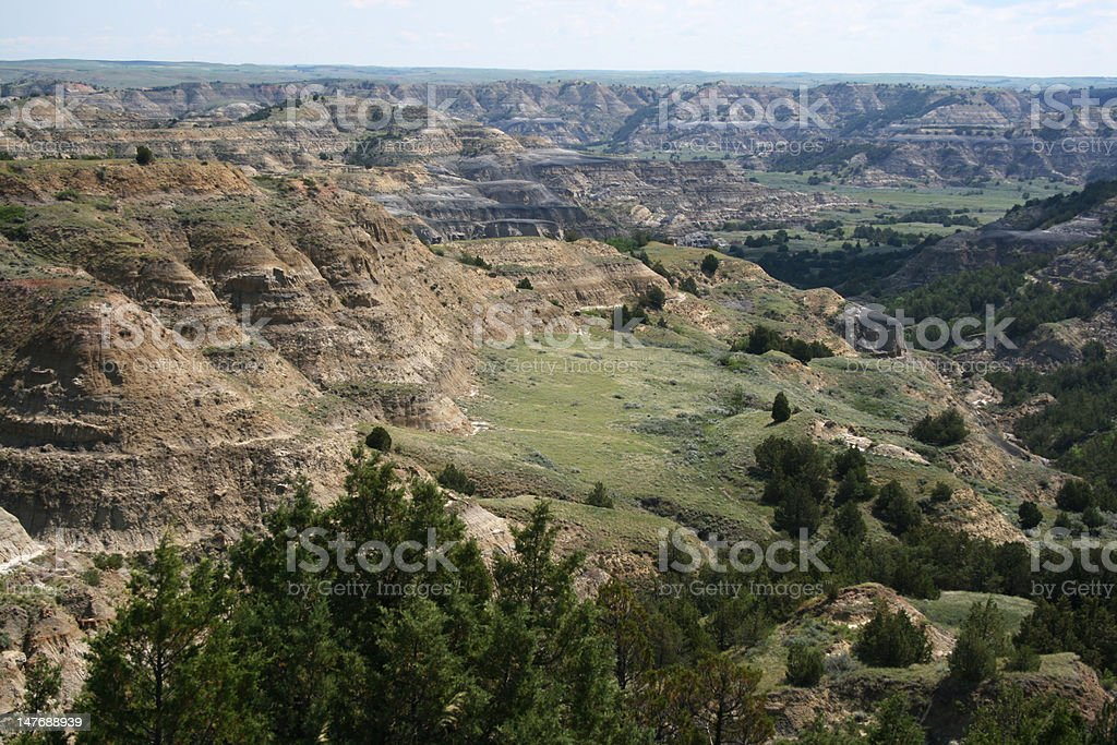 Formations, Theodore Roosevelt National Park stock photo