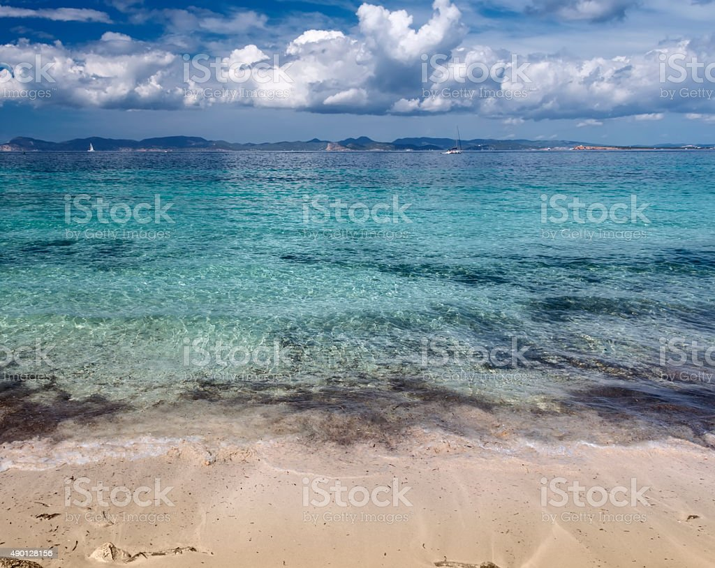 formentera beach stock photo