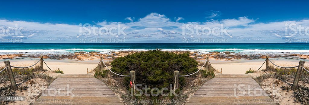 formentera beach stock photo