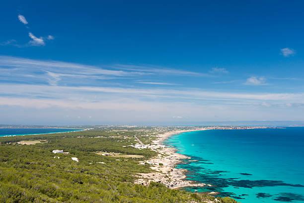 Formentera coast stock photo